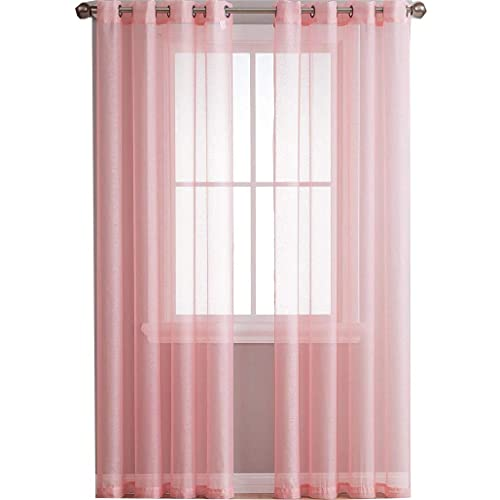 Pink Sheer Curtains: Amazon.c