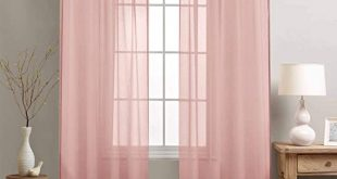 Amazon.com: jinchan Girl's Room Sheer Curtains Mauve Pink 84 .