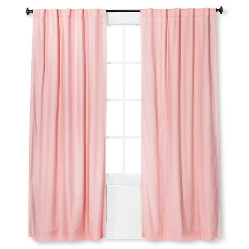 "Twill Blackout Curtain Panel Light Pink (42x84"") - Pillowfort ."