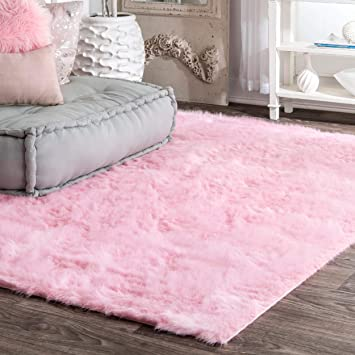 Amazon.com: nuLOOM Cloud Faux Sheepskin Soft & Plush Shag Rug, 5 .