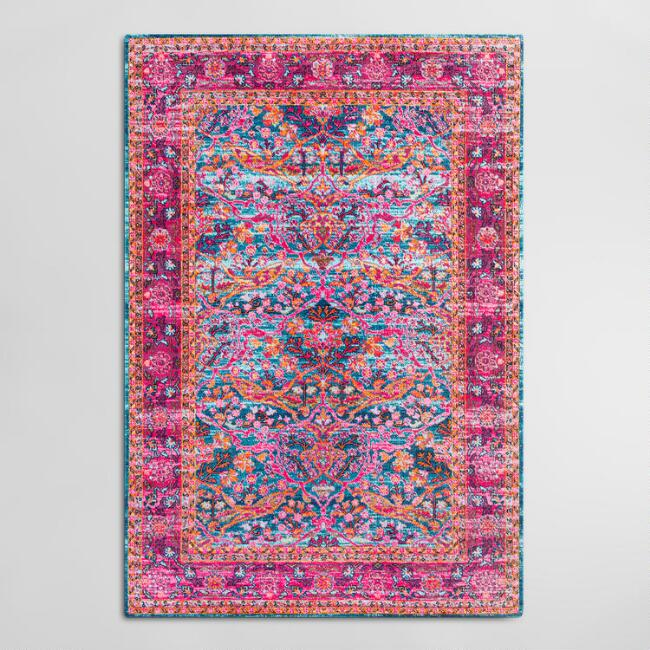 Pink Floral Chloe Area Rug | World Mark