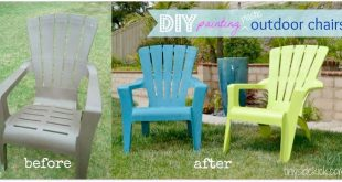 How to Paint Plastic Outdoor Chairs | Painting plastic furniture .