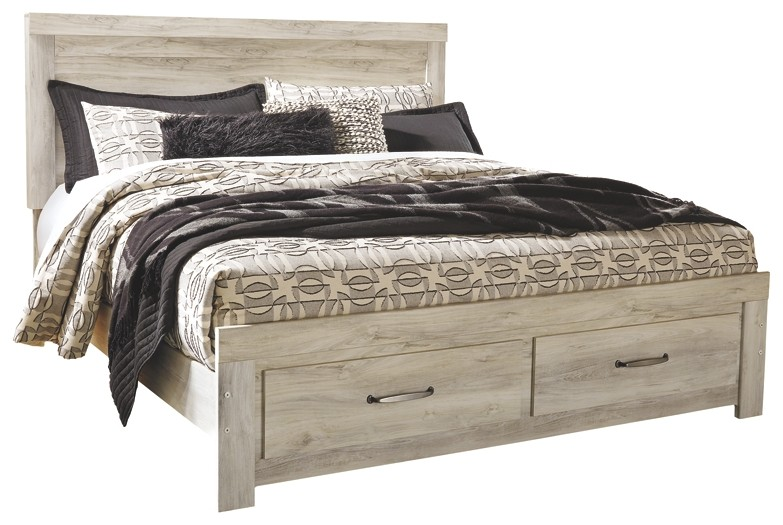Bellaby - King Platform Bed with 2 Storage Drawers | B331B9-56S-58 .