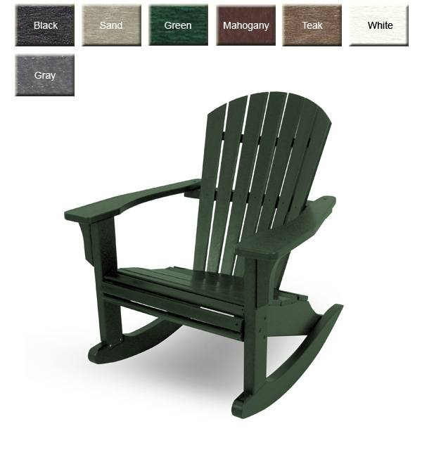POLYWOOD® Seashell Adirondack Rocking Chair | OutdoorPolyFurnitu
