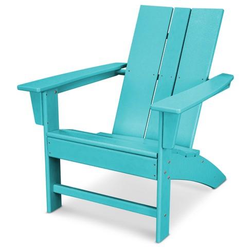 St Croix Modern Adirondack Patio Chair - POLYWOOD : Targ