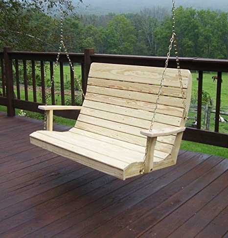 Amazon.com : Amish Porch Swing, 4 ft Outdoor Hanging Porch Swings .
