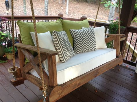 56 DIY Porch Swing Plans [Free Blueprints] | Porch swing, Diy .
