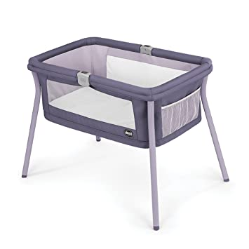 Amazon.com : Chicco LullaGo Portable Bassinet, Iris : Ba