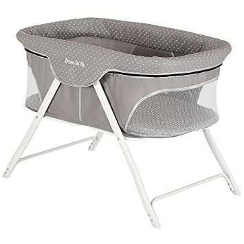 Amazon.com : Dream On Me Traveler Portable Bassinet, Twinkle Grey .