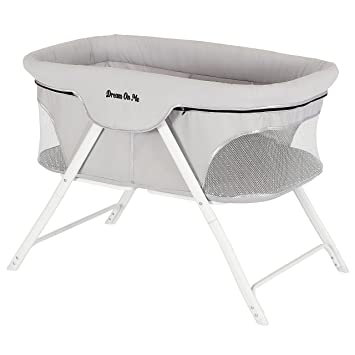 Amazon.com : Dream On Me Traveler Portable Bassinet, Cloud Grey : Ba