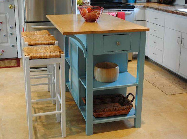 20 Small Kitchen Island Ideas | Portable kitchen island, Stools .