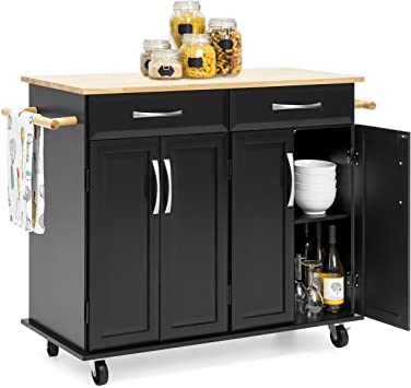 Amazon.com - Best Choice Products Portable Kitchen Island Cart for .