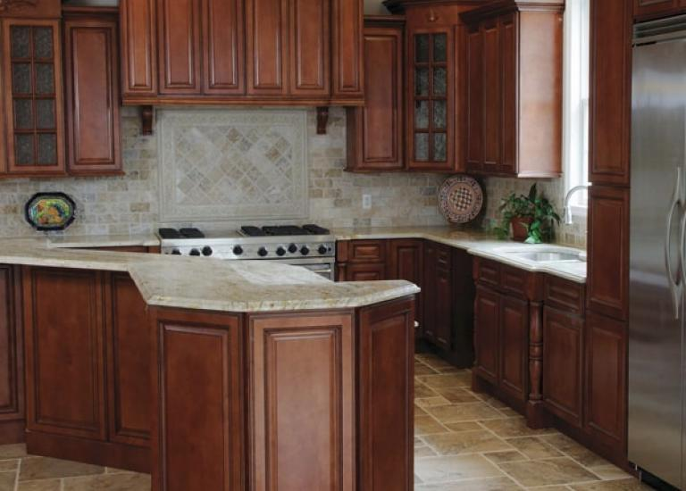 Nutmeg Twist Pre-Assembled Kitchen Cabinets - Willow Lane Cabinet