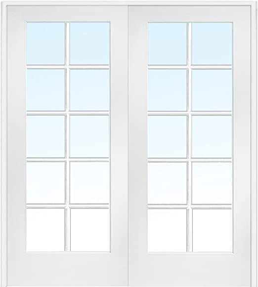 National Door Company Z019952BA Primed MDF 10 Lite Clear Glass .