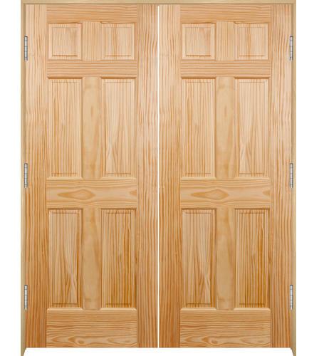 Mastercraft® Pine 6-Panel Interior Double Door System at Menards