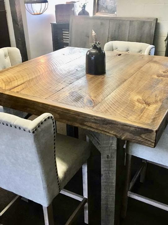 Farmhouse Pub Table – Medium – Chic & Antiq