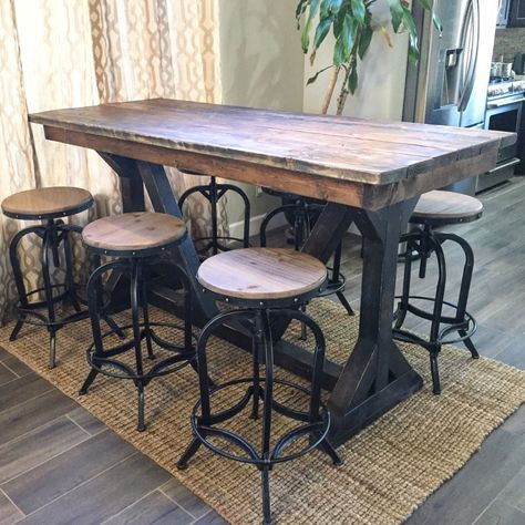 Rustic Pub Table (With images) | Rustic pub table, Pub table sets .
