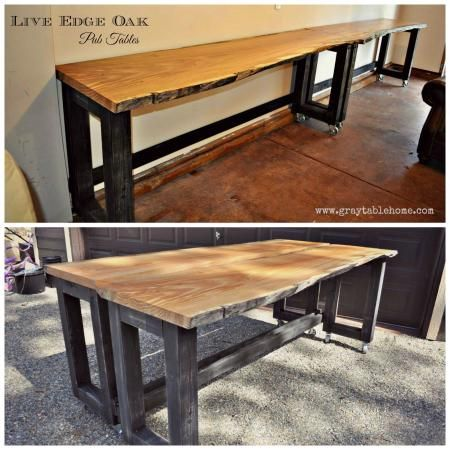 DIY Convertible Bar / Pub Table | Do It Yourself Home Projects .