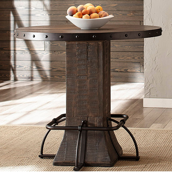 Hillsdale House Jennings Pub Table, Color: Distressed Walnut .