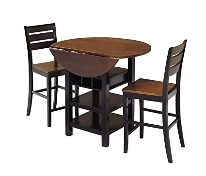 Amazon.com - Sunset Trading Quincy Dining Pub Table Set, Black .