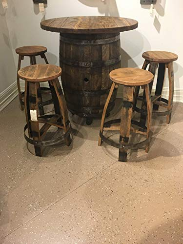 Amazon.com: Bourbon Barrel Pub Table set: Handma