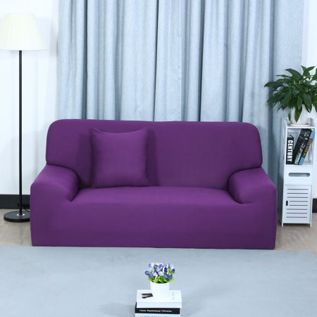 Stretch Chair Sofa Covers Couch Slipcover Purple Sofa-4seater .