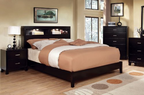 Amazon.com: Furniture of America Metro Platform Bed with Bookcase .
