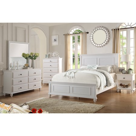 Country Living Bedroom Furniture Classic White Color 4pc Set Queen .