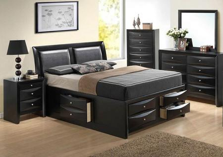 Glory Furniture G1500I-QSB4BDMNC 5-Piece Bedroom Set with Queen .