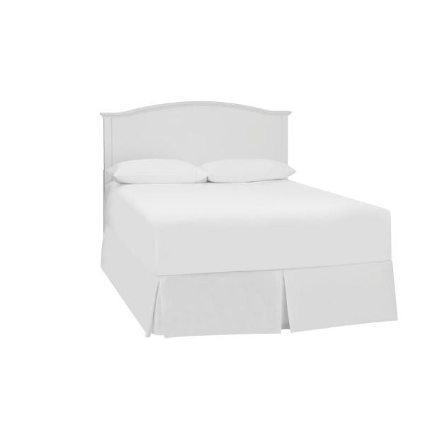 StyleWell Colemont White Wood Curved Back Queen Size Headboard .