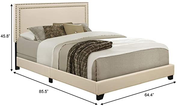 Amazon.com - Home Meridian Upholstered Queen Size Headboard and .