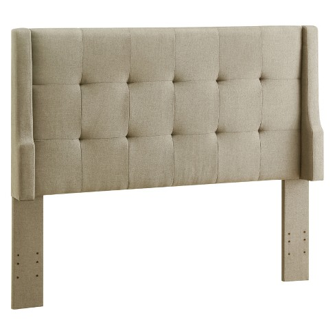 Full/Queen Luxury Sable Headboard Beige - Linon : Targ