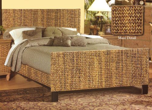 Page 4 - Rattan Bedroom Furniture, Bamboo Bed Set, Black Wicker .