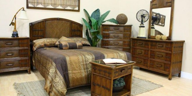Polynesian Wicker Bedroom Suite by Hospitality Rattan   Mirrored .