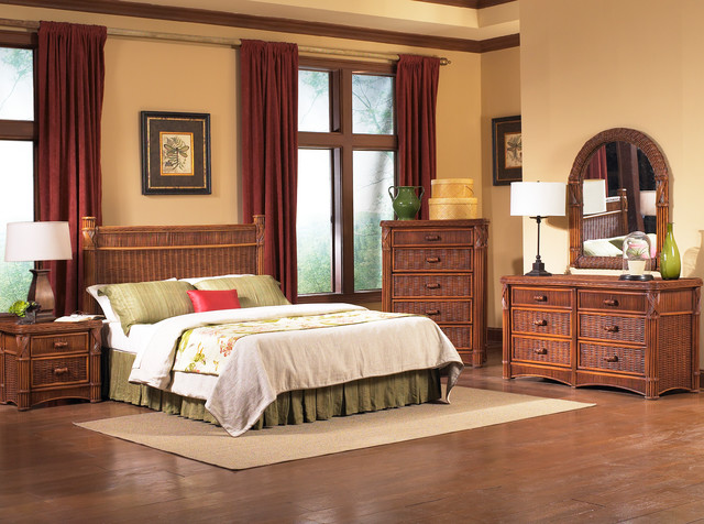 Barbados Rattan Bedroom Furniture - Tropical - Bedroom - New York .