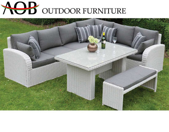 China Hot Sale Outdoor Furniture Garden Lawn Rattan Wicker Corner .