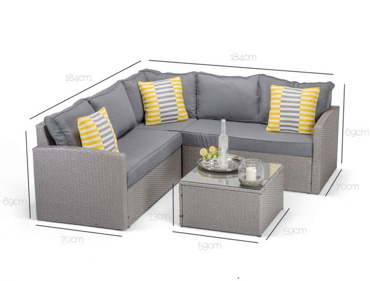 Dimensions of Calabria corner sofa in grey rattan | Furniture sofa .