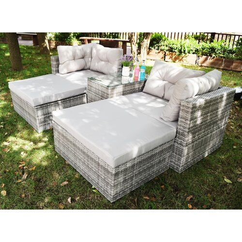 Zipcode Design Paton 4 Seater Rattan Effect Sofa Set | Rattan .