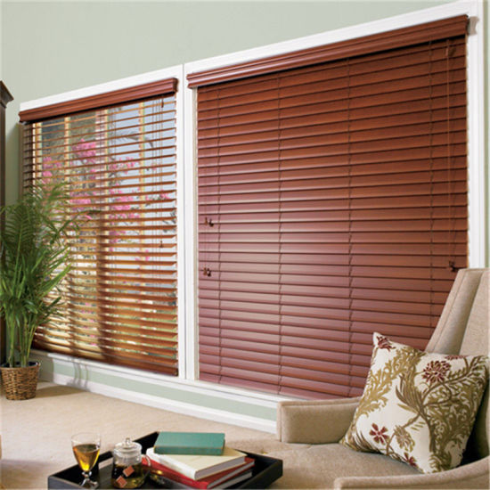 China Various Color Customized Ready Made Venetian Blinds Wood .