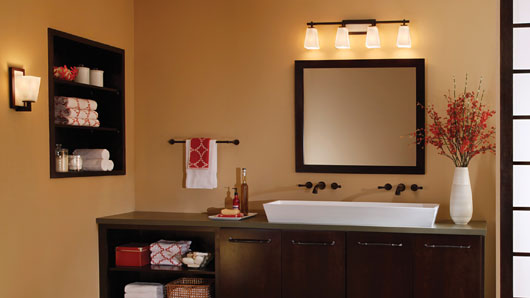 Bathroom lighting tips, ceiling lights, recessed ligh