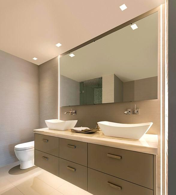 Image result for cool lights for bathroom | Bathroom recessed .