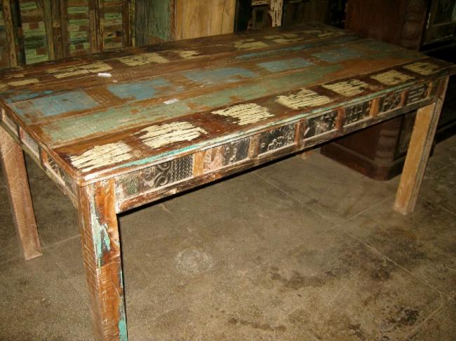 Leela-Indian Reclaimed Dining Table-Reclaimed Furnitu