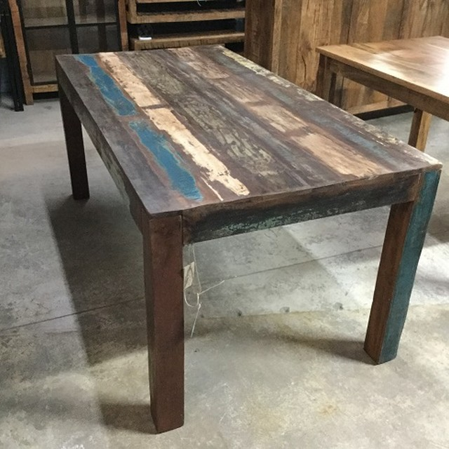 Reclaimed Wood Dining Table - Nadeau New Orlea