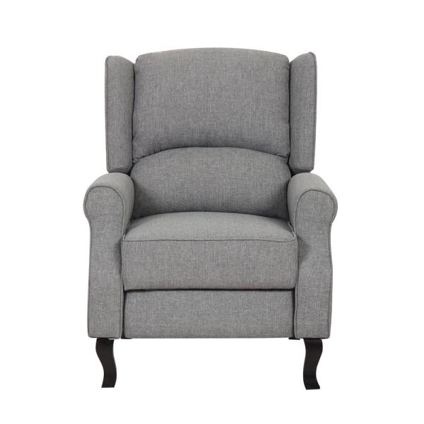 US PRIDE FURNITURE Gray Modern Wingback Recliner Chair S6030 - The .