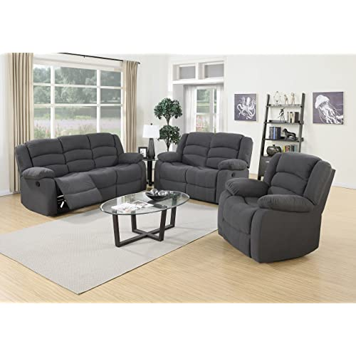 Grey Reclining Sofa: Amazon.c