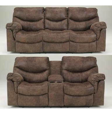 Alzena Gunsmoke Reclining Sofa & Loveseat Set – Austin's Furniture .