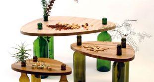 Divinus: Creative Wine Bottle Recycle Furniture by Tati Guimaraes .