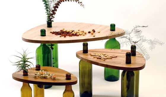 Divinus: Creative Wine Bottle Recycle Furniture by Tati Guimaraes .