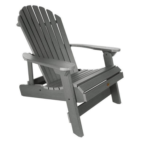 Highwood King Hamilton Coastal Teak Folding and Reclining Recycled .
