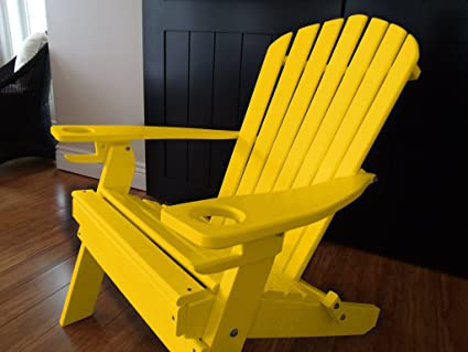 Amazon.com: Poly Recycled Plastic Adirondack Chair with Two .